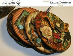Steampunk Debutante altered clock and mini album by Laura #graphic45