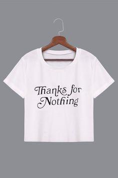 Letter Pattern Shirt in White