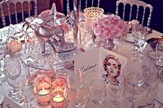 Celebrity shoe table centerpieces. #wedding #weddinginvitations