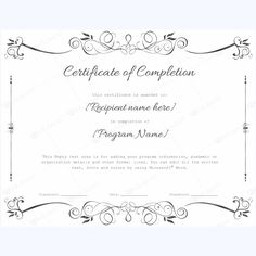 25 best certificate of completion templates images on pinterest