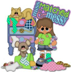 Miss Matched & Messy Patterns & Cutting Files (SVG,WPC,GSD,DXF,AI,JPEG)