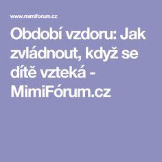 Období vzdoru: Jak zvládnout, když se dítě vzteká - MimiFórum.cz