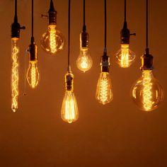 Vintage Edison Ampoule 40 W AC 220 V filament incandescent Lamp Retro Light Bulb Vintage Light Bulbs, Vintage Lamps, Vintage Lighting, Retro Vintage, Edison Lampe, Lampe Retro, Edison Lighting, Incandescent Bulbs, Edison Bulbs