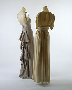 Evening dress, Valentina (late 1930s). Silk.