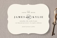 Classically Stated Save the Date Cards