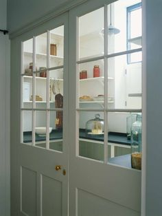 The Larder Kitchen' by Plain English . The Larder Kitchen' by Plain English . British Kitchen Design, English Design, Kitchen Design Companies, Home, Interior, Bespoke Kitchen Design, Kitchen Barn Doors, Door Glass Design, Larder