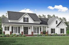 Country House Plan with Flex Space and Bonus Room - 51745HZ   1st Floor Master Suite, Bonus Room, Butler Walk-in Pantry, CAD Available, Corner Lot, Country, Den-Office-Library-Study, Farmhouse, PDF, Photo Gallery, Split Bedrooms, Traditional, Wrap Around Porch   Architectural Designs