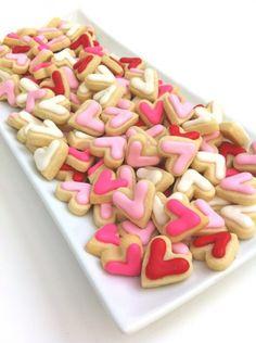 Tea Party cookies - mini hearts