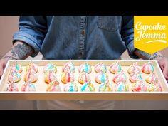 Circus Rainbow Marshmallow Meringues Recipe | Cupcake Jemma - YouTube