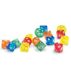 Dice 10S Face 1-10 x 6 Learning Resource