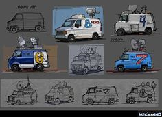 WORK OF ALEX HAGELIS Car Illustration, Illustrations, Car Animation, Art Transportation, Drawing Machine, Old School Cars, Apocalypse, 3d Studio, Prop Design