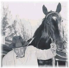 Bold Ruler with trainer Sunny Jim Fitzsimmons--my horse's great great grandfather!
