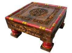 High Quality Details Zu Antik Look  Orient Massivhloz Tisch Teetisch Wohnzimmertisch Table 50x50 Cm