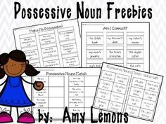 I hope you enjoy these printables to use with your kiddos while teaching possessive nouns!