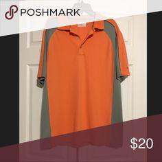 Men s golf polo Orange and gray Shirts Polos Mens Golf 9f55174c8190e