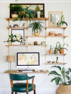 Home offices rodeado de natureza ~ Decoração e Ideias - casa e jardim