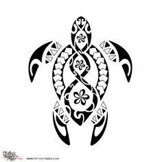 Turtle tribal tattoo