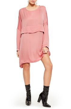 0d5112871270 Missguided Oversized Satin Shift Dress available at  Nordstrom