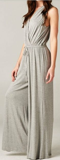 Madison Jumpsuit in Heather Gray