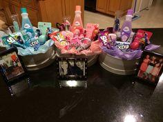 Teen Girls Birthday Gift Basket - DIY Christmas Gifts for Teen Girls # DIY Gifts for teens Christmas Gifts For Teen Girls, Birthday Gifts For Teens, Teen Girl Gifts, Gifts For Kids, Birthday Presents, Kids Presents, Teen Gift Baskets, Birthday Gift Baskets, Easter Baskets