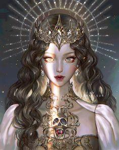 Digital Art Fantasy, Digital Art Girl, Fantasy Artwork, Beautiful Fantasy Art, Beautiful Anime Girl, Anime Art Girl, Manga Girl, Aesthetic Art, Aesthetic Anime