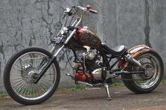 Modifikasi Honda CB 100 Chopper Bike