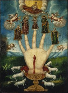 (Unknown). Mano Poderosa (The All-Powerful Hand), or Las Cinco Personas (The Five Persons), Mexico. 1800s.