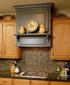 Looking for Kitchen Vent Range Hood Home Design Photos? Here we have 40 different ideas that can help you when designing your new kitchen. There are many different types of vent hoods. Many come in different colors and made of Kitchen Vent Hood, Kitchen Exhaust, Kitchen Stove, New Kitchen Cabinets, Kitchen Redo, Kitchen Ideas, 1960s Kitchen, Kitchen Range Hoods, Teal Kitchen