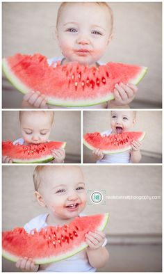 New baby pictures 1 year photography ideas Watermelon Photo Shoots, Watermelon Pictures, Summer Photography, Children Photography, Newborn Photography, Photography Ideas, Twin Toddler Photography, Indoor Photography, Photography Mini Sessions
