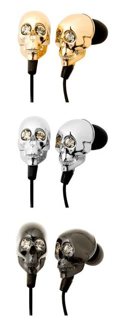 rhinestone skull ear buds - so need a pair.
