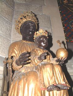 VICHY, black madonna in Cusset. 19th cent. copy.