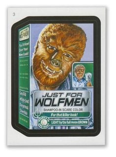 Wacky Packages - 7th Series 2010 Sticker #3 Just for Wolfmen