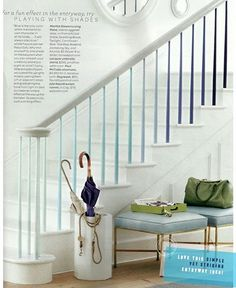 ombre stair rail