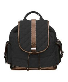 3504ce0c033 Franco Sarto Black   Brown Quilted Collins Backpack