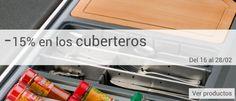 ¡Este mes, toca poner orden en tus cajones! - 15% en toda nuestra gama de cuberteros #cocina #orden