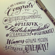 Different handlettering fonts