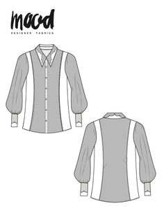 The Elaeis Shirt - Free Sewing Pattern - Mood Sewciety Free Printable Sewing Patterns, Plus Size Sewing Patterns, Free Sewing, Pdf Patterns, Print Patterns, Shirts & Tops, Sewing Kids Clothes, Diy Clothes, Creations