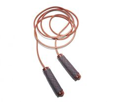 General Manufacturing Tybee Jump Rope -- Forget about those plastic, beaded death whips you used in grade school. The Tybee jump rope is constructed from a much more pleasing (and skin-friendly) combination of materials: a leather cord, walnut handles, and paracord grips strengthened in hot water.