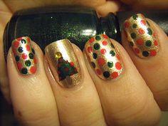 No Nekkid Nails - Christmas Dot Mani