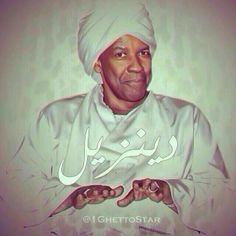 Denzel Washington in Arabic Fashion