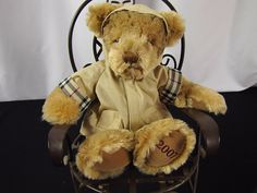 BURBERRY 2007 Teddy Bear Nova Check Print Fragrance Jacket ADORABLE! #Burberry #AllOccasion