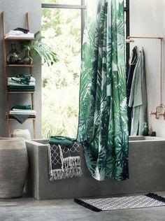 Une ambiance jungle tropicale pour votre salle de bain