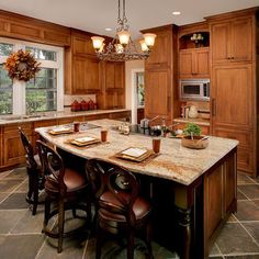 Dark cabinets with the grey floor