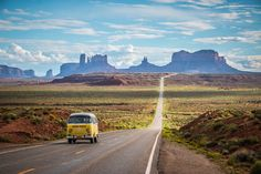 Sometimes you`ll get these special moments, when something happens just in front of you. This was one of these moments, when I waited for sunset in front of Monument Valley and this classic Volkswagen Type 2 drove by with waving Japanese people inside.