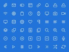 Featheris a growing collection of beautifully simple icons. The set is packaged in PSD, CSH, SVG and Webfont format. Released byCole Bemis...