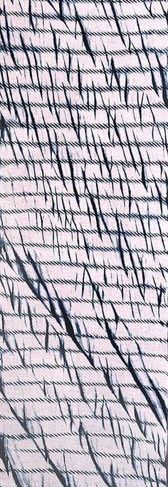 Arishi Shibori (vertical lines) Indigo on cotton. Tashio period. 1912 - 1926