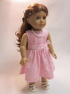 18 inch American Girl Doll Clothes - Easter Spring Dress-Sundress. $12.00, via Etsy.  Simple sweet dress.