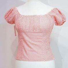 Ruby: Red Dot Bernie Dexter, Red Dots, Ruby Red, Polka Dot Top, Pearl, Tops, Women, Fashion, Moda