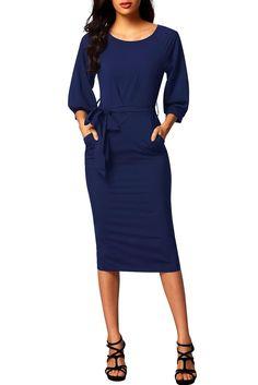 Try latest Chicloth Blue Puf.... http://chicloth.com/products/chicloth-blue-puff-sleeve-belt-chiffon-pencil-dress?utm_campaign=social_autopilot&utm_source=pin&utm_medium=pin