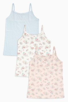 e0e7b93a5d79 Buy Pink Blue Floral Camis Three Pack (3-16yrs) from the Next UK online shop